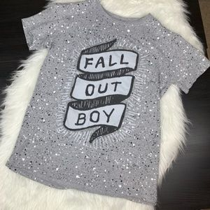 Fall out boy T-shirt size S. Speckles A5